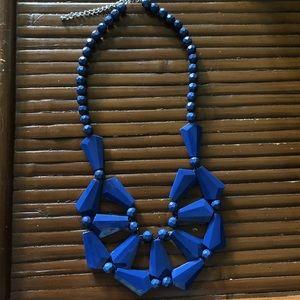Blue Old Navy Bib Necklace